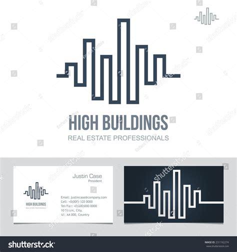 company bureau estate business sign business card stock vector