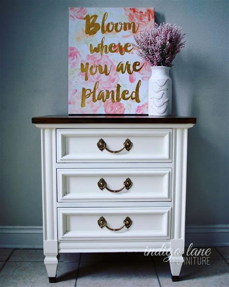 nightstand antique white milk paint general finishes