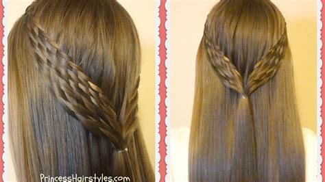 woven braid pull  hairstyle youtube