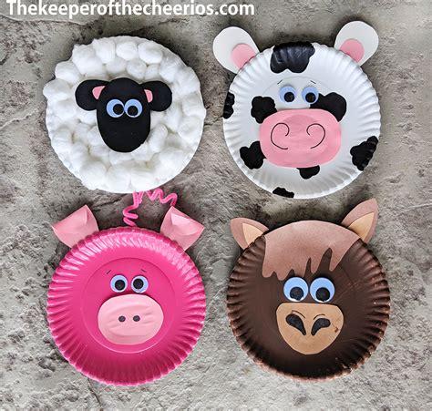 paper plate farm animals  keeper   cheerios