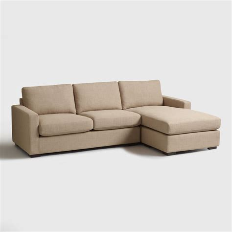 chaises taupe taupe woven upholstered burnett sofa and chaise market