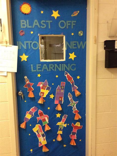 Space Themed Door Decoration  Preschool  Bulletin Boards