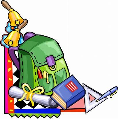 Supplies Elementary Cartoon Clipart Supply Grade Clip