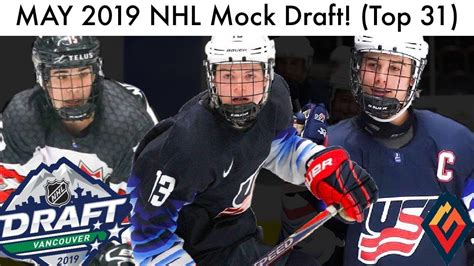 May 2019 Nhl Mock Draft! (top 31 Prospect Rankings, Kakko