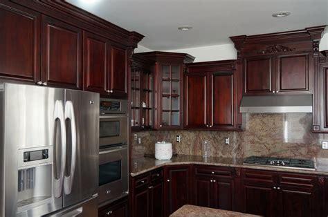 Dark Cherry Ready To Assemble RTA Kitchen Cabinets