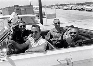 (L-R) Elliot See, Gordon Cooper, Neil Armstrong, Gus ...