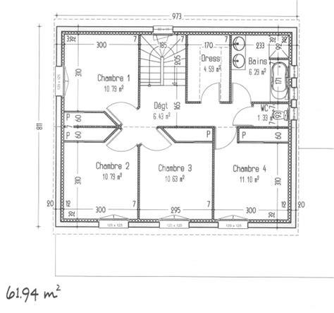 plan maison 4 chambres etage avis sur notre plan maison à étage avec 4 chambres 127m2