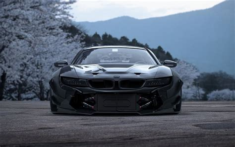 bmw supercar black download wallpapers bmw i8 tuning front view supercars