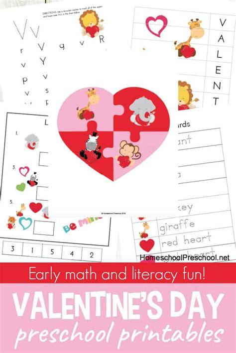 s day preschool printables for math amp literacy 819 | preschool valentines day printables