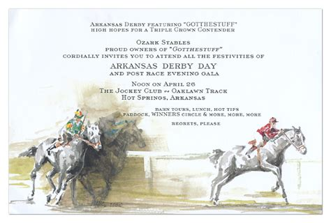 Horse Derby Invitation Kentucky Derby Party Invitations