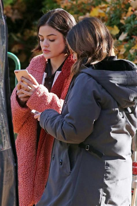 lucy hale filming a scene on set of life sentence in ...