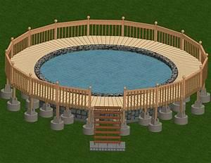 Pool Dach Rund : how to build a deck around an above ground pool ~ Watch28wear.com Haus und Dekorationen
