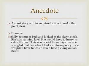 Anecdotes Examples For Essays Kids