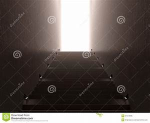 Stairs with light stock illustration. Illustration of ...
