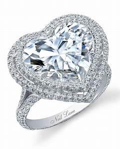 heart shaped engagement rings martha stewart weddings With heart shaped wedding rings
