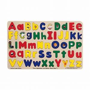 melissa doug upper and lower case alphabet puzzle puzzles With melissa and doug replacement letters