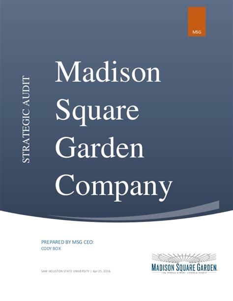 square garden company square garden strategic audit