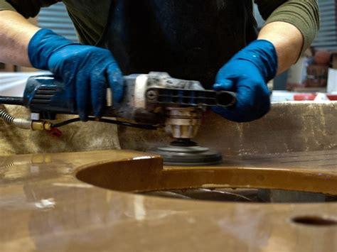 Polishing Countertops - how to make concrete countertops cheng concrete exchange