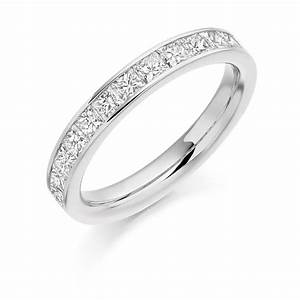 Platinum 1ct princess cut diamonds vintage wedding ring for Platinum princess cut wedding rings
