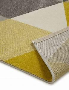 Tapis design pas cher for Tapis jaune avec canapé avec grande assise