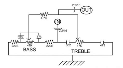 How Treble Bass Control Without Transistor