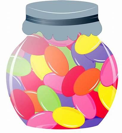Jelly Beans Bean Jar Clipart Candy Sweet