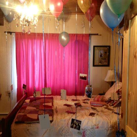 surprised decorated   friends bedroom