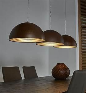 Luminaire 3 Suspensions : luminaire suspension acier oxyd style moderne tuneco ~ Teatrodelosmanantiales.com Idées de Décoration