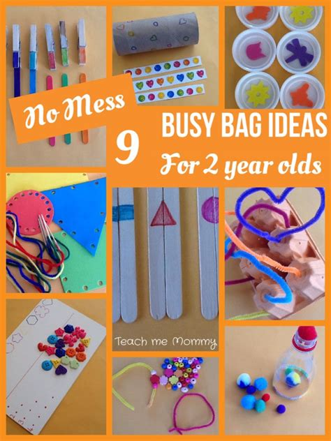 mess busy bag ideas   year olds teach  mommy