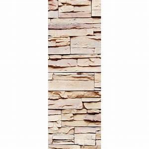Mur Trompe L Oeil : sticker d coration de porte trompe l 39 oeil mur de pierre stickers autocollants ~ Melissatoandfro.com Idées de Décoration