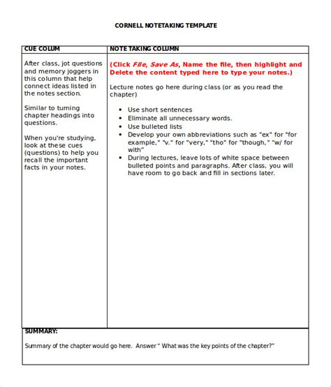 Note Taker Resume by Sle Cornell Note Taking Template 8 Free Documents In Meeting Minutes Template 25 Free