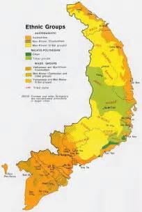ethnic map  south vietnam  language maps
