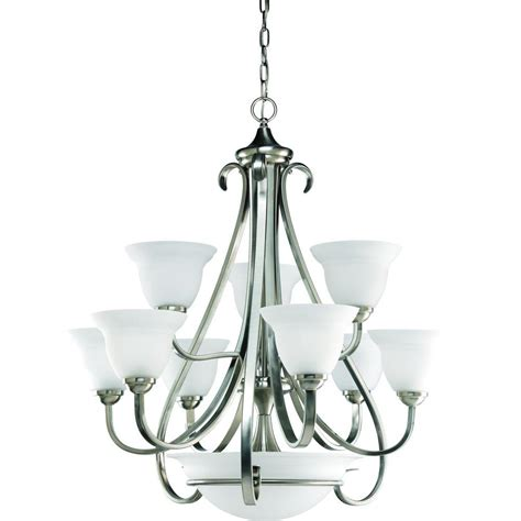 Chandeliers Lighting Collections progress lighting torino collection 9 light brushed nickel