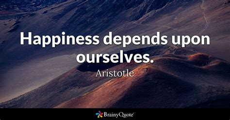 aristotle happiness depends
