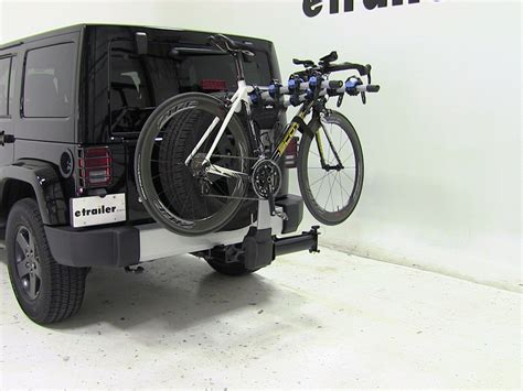 jeep wrangler bike rack jeep wrangler thule apex swing 4 bike rack for 2 quot hitches