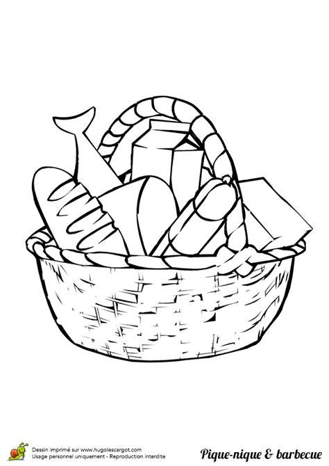 jeu gratuit cuisine coloriage panier pique nique barbecue sur hugolescargot com hugolescargot com
