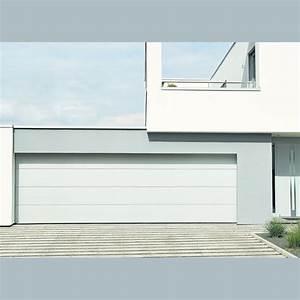 porte de garage double sectionnelle hormann jusqu39a 55 metres With largeur porte garage double