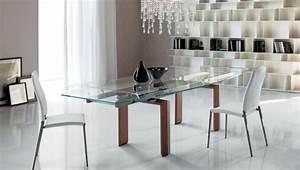 Table à Manger Verre Et Bois : table salle manger extensible et design en 35 images ~ Teatrodelosmanantiales.com Idées de Décoration