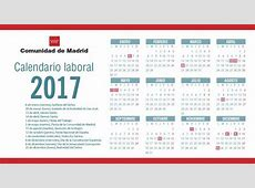 Calendario laboral Madrid 2017 festivos y puentes