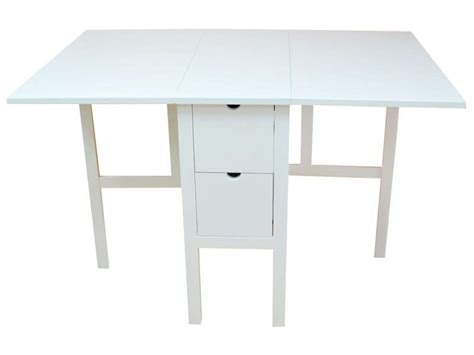 tables de cuisine alinea table pliante 80 cm tidy coloris blanc chez conforama