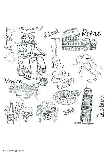 delightful italy coloring pages kids sheets  top
