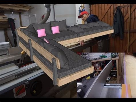 fabriquer canape comment fabriquer un sofa canapé d 39 angle partie 1