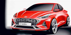 Hyundai Aura Sedan Official Render Front And Rear