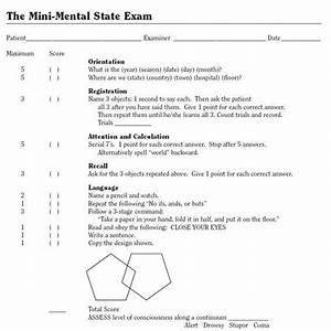 Mmse  Used To Assess Cognitive Status  Use This A Lot In