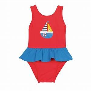 Maillot De Bain Année 50 : maillot de bain rouge anti uv pour b b fille frugi ~ Melissatoandfro.com Idées de Décoration