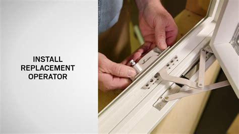 operator replacement  andersen  series casement windows youtube