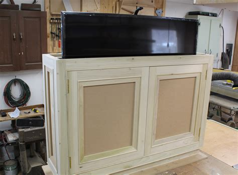 how to design a kitchen diy tv lift cabinet plans diy do it your self 8610