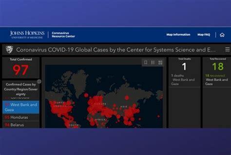 john hopkins removes palestine  coronavirus map