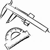 Caliper Protractor Coloring Pages Printable Supplies Coloringpages101 sketch template