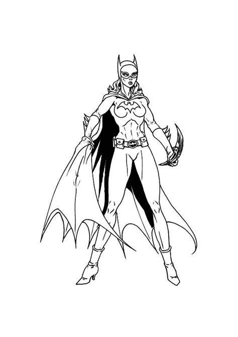batgirl coloring pages    print